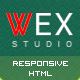 WEX - Minimalistic HTML Portfolio Template