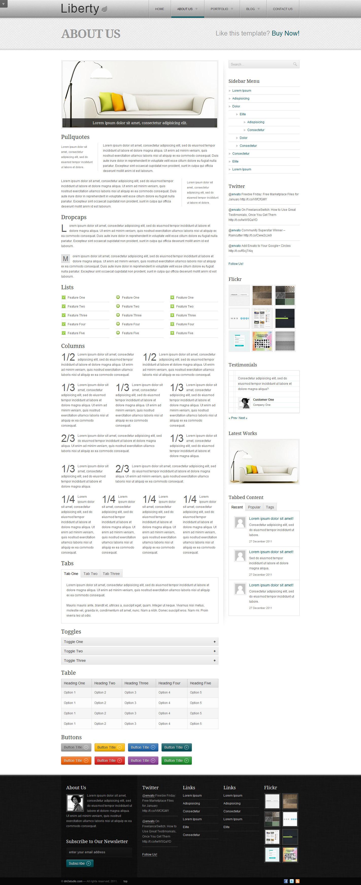Liberty - Business HTML Template