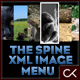The Spine XML Image Menu - ActiveDen Item for Sale