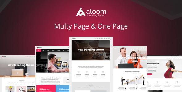 Image of Aloom - Responsive MultiPurpose Drupal Theme