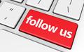 Follow Us Web Key Concept