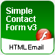 Flash 8 Contact Form that sends email in HTML format - ActiveDen Item for Sale