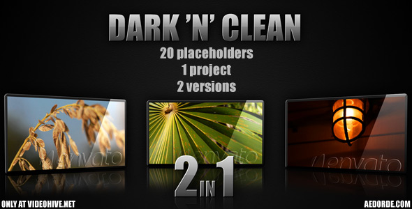 After Effects Project - VideoHive Dark n clean 151107