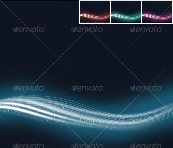 Wavy Abstract Background #2  - Abstract Backgrounds