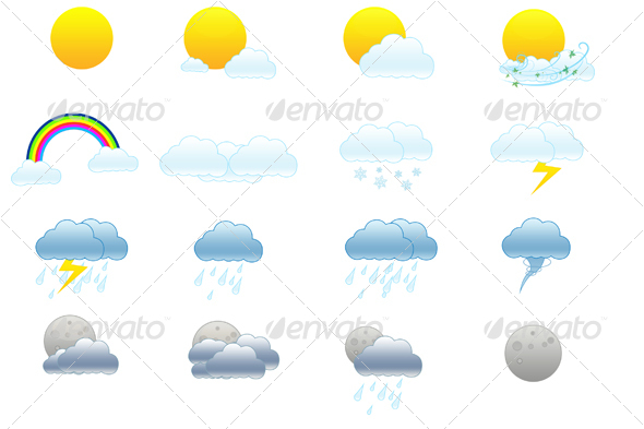 GraphicRiver Weather icons 29113