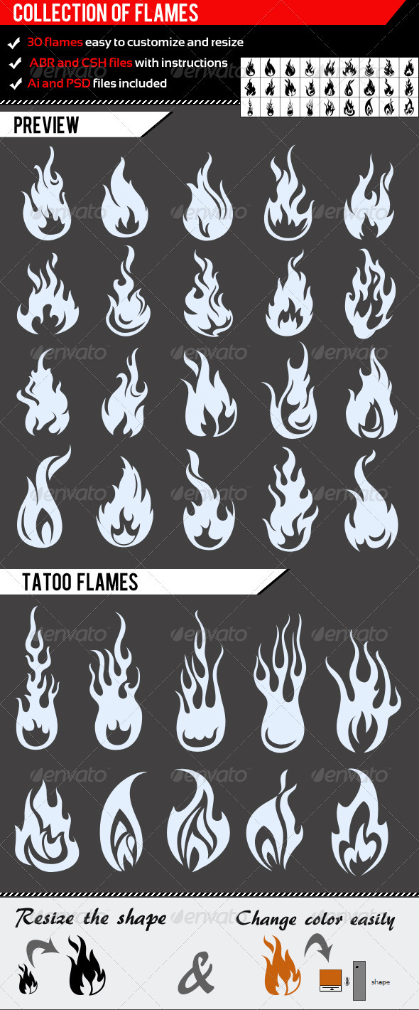 GraphicRiver Collection Of Flames 1248004