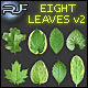 SET OF EIGHT GREEN LEAVES #2 - GraphicRiver Item for Sale