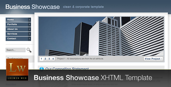 Business Showcase - Corporate Layout (HTML)