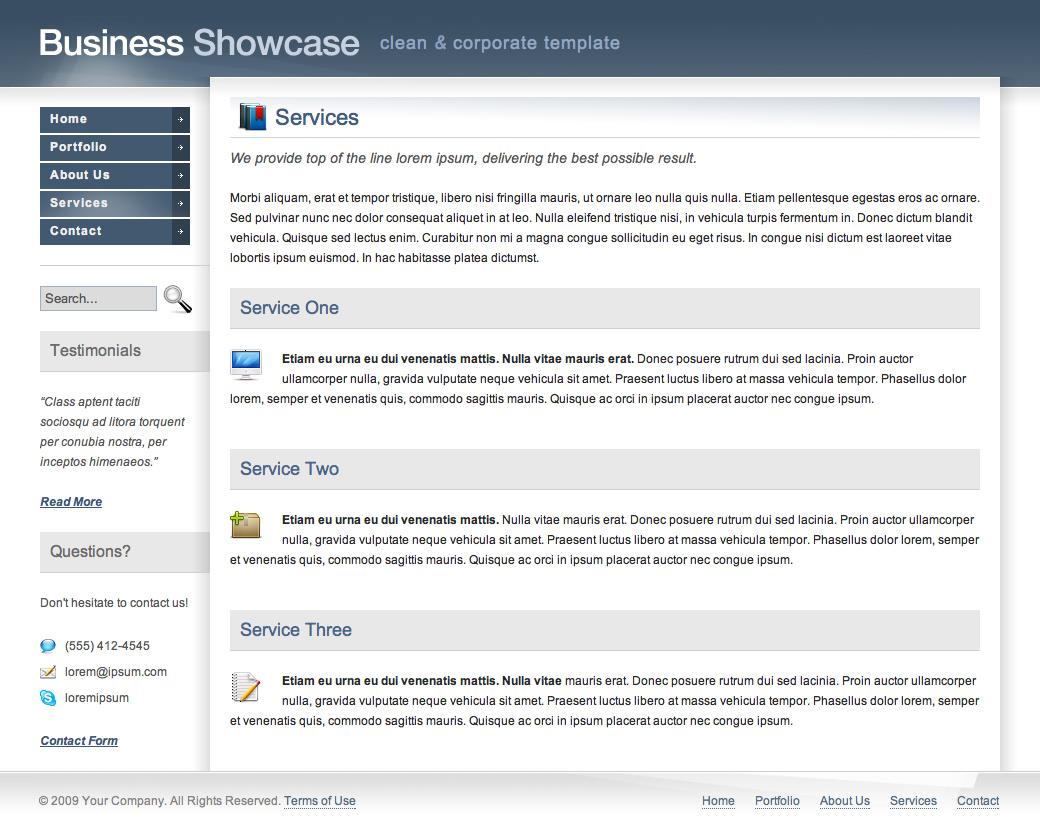 Business Showcase - Corporate Layout (HTML)