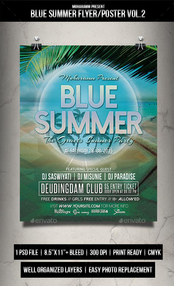 Blue  Summer Flyer / Poster Vol.2