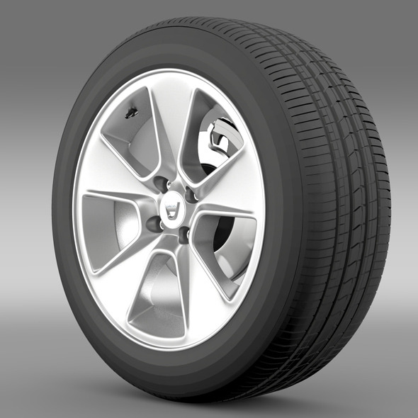 Dacia Logan wheel - 3DOcean Item for Sale