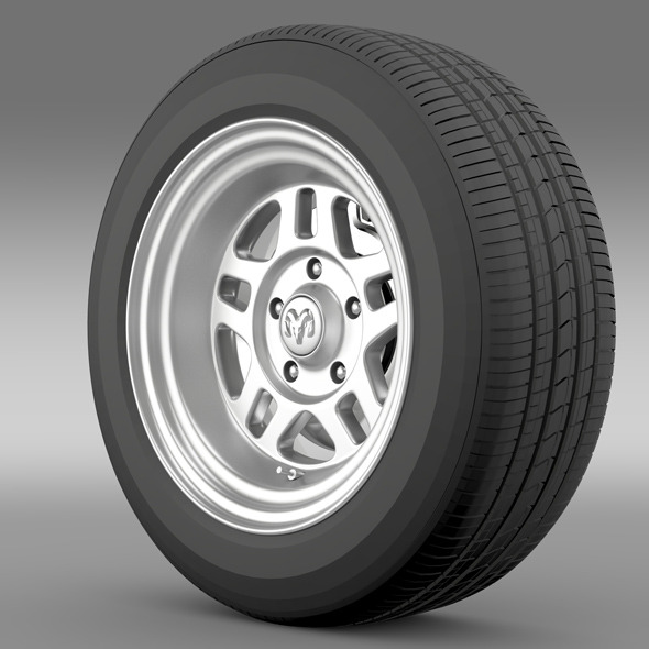 Dodge Challenger Mopar wheel - 3DOcean Item for Sale