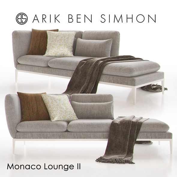 Monaco Chaise Lounge II by Arik Ben Simhon - 3DOcean Item for Sale