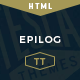 Epilog - A HTML Blogging Template
