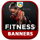 Gym & Fitness HTML 5 Banners - 7 Sizes