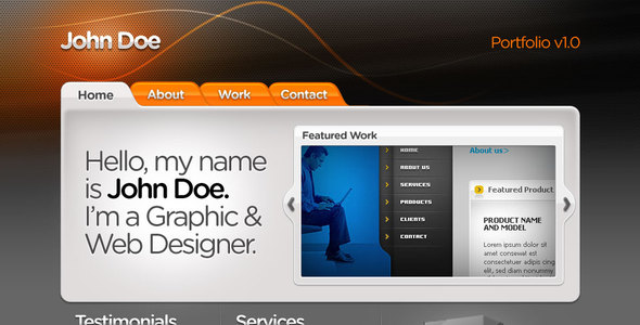 ThemeForest Web Designer Portfolio template 50214