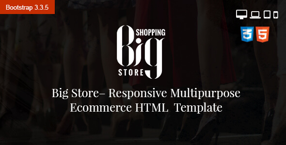 Big Store eCommerce Multipurpose HTML5 Template