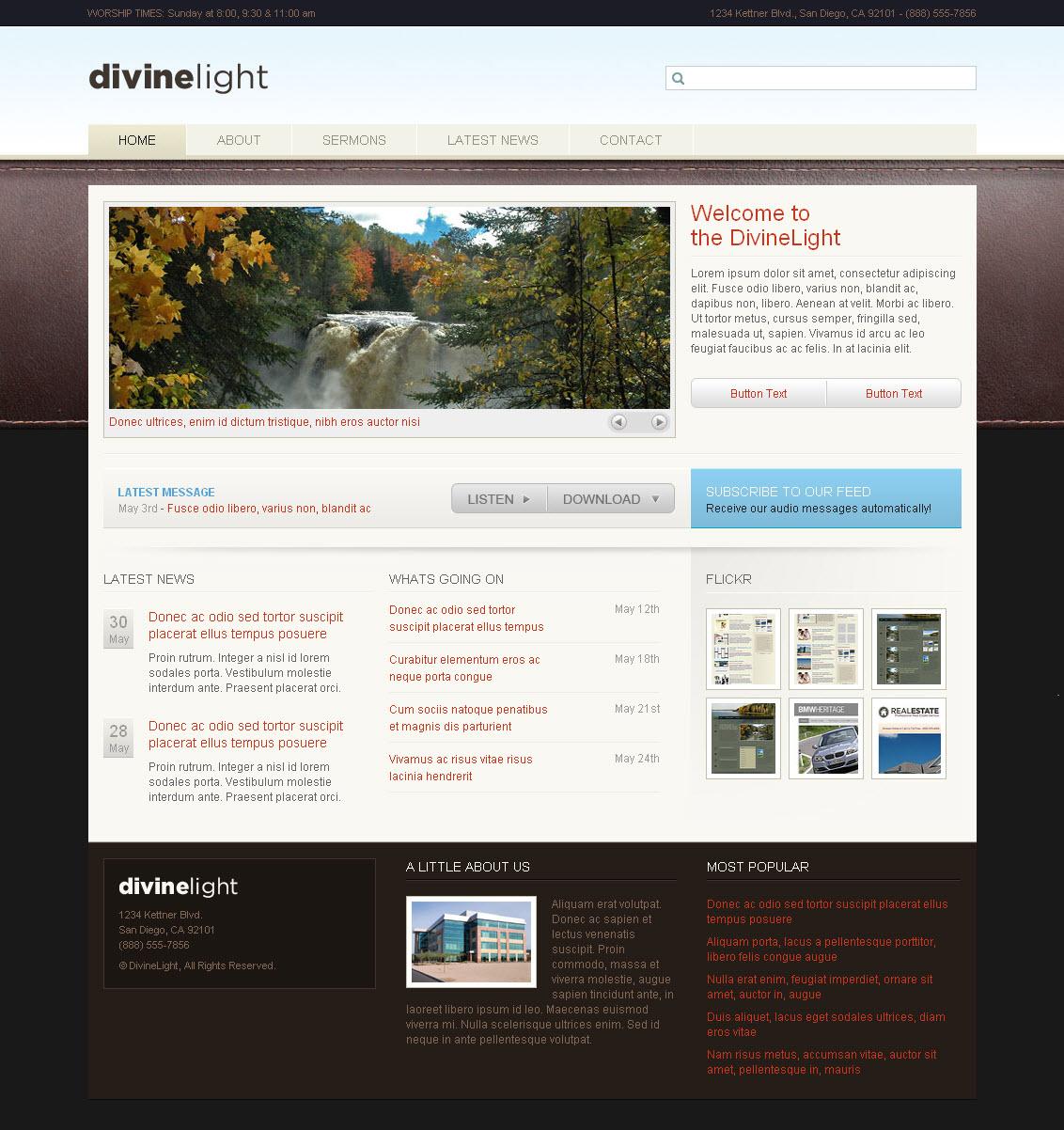 DivineLight - Premium HTML Template