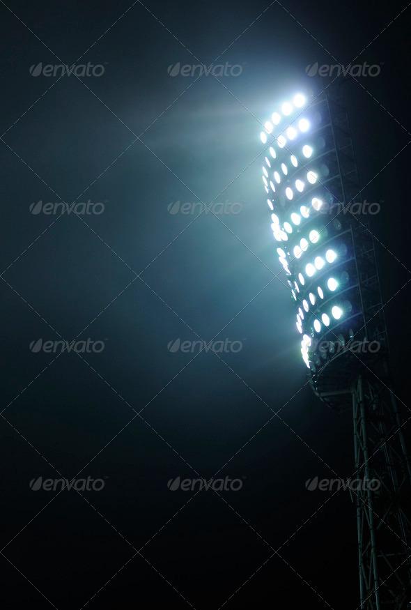 PhotoDune Stadium Lights against Dark Night Sky Background 1251968