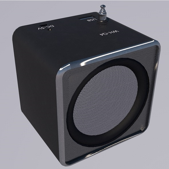Mini Digital Speaker - 3DOcean Item for Sale