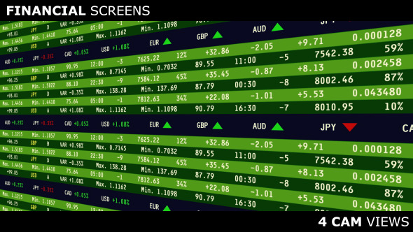 VideoHive Financial Screens 12479750