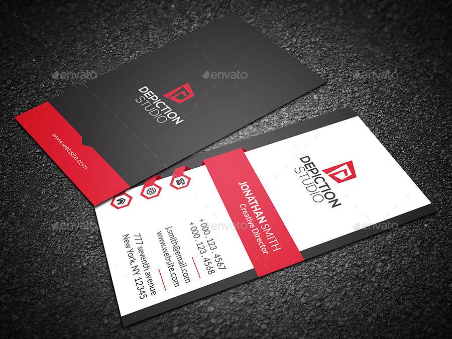 Creative Vertical Business Card by VERTEX ART