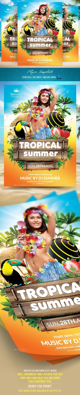 Tropical Summer Flyer Templat