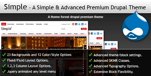 Simple - A Simple & Advanced Premium Drupal Theme - Drupal CMS Themes