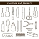 Set Of Cute Hand Drawn Objects On Manicure