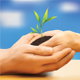 Finger Touching Touch Pad PC Mockup