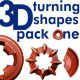 3D Turning Shapes Pack One - VideoHive Item for Sale