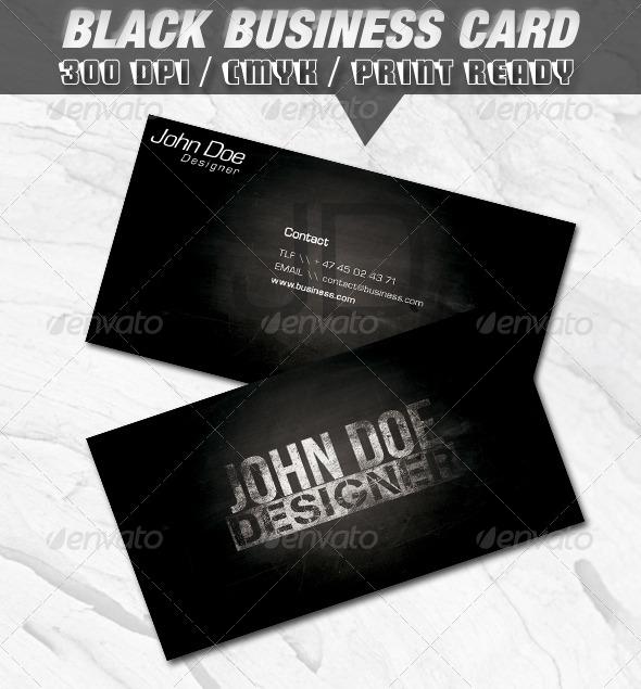 GraphicRiver Black Business Card 149395
