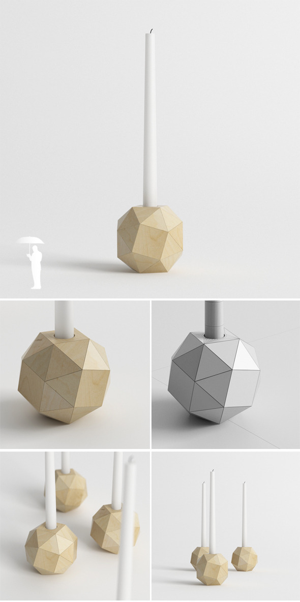 Polyhedron candle holder - 3DOcean Item for Sale