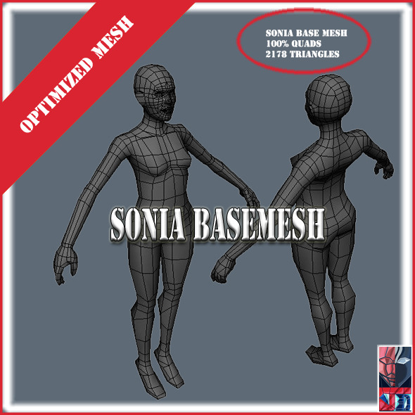 Sonia Base Meshe - 3DOcean Item for Sale