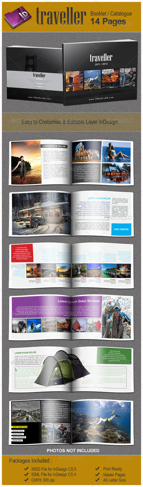 GraphicRiver Traveller Booklet Catalogue Template 1251785
