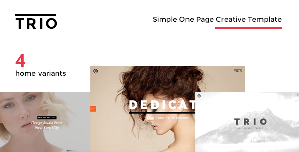 TRIO - Simple One Page Creative Drupal Theme