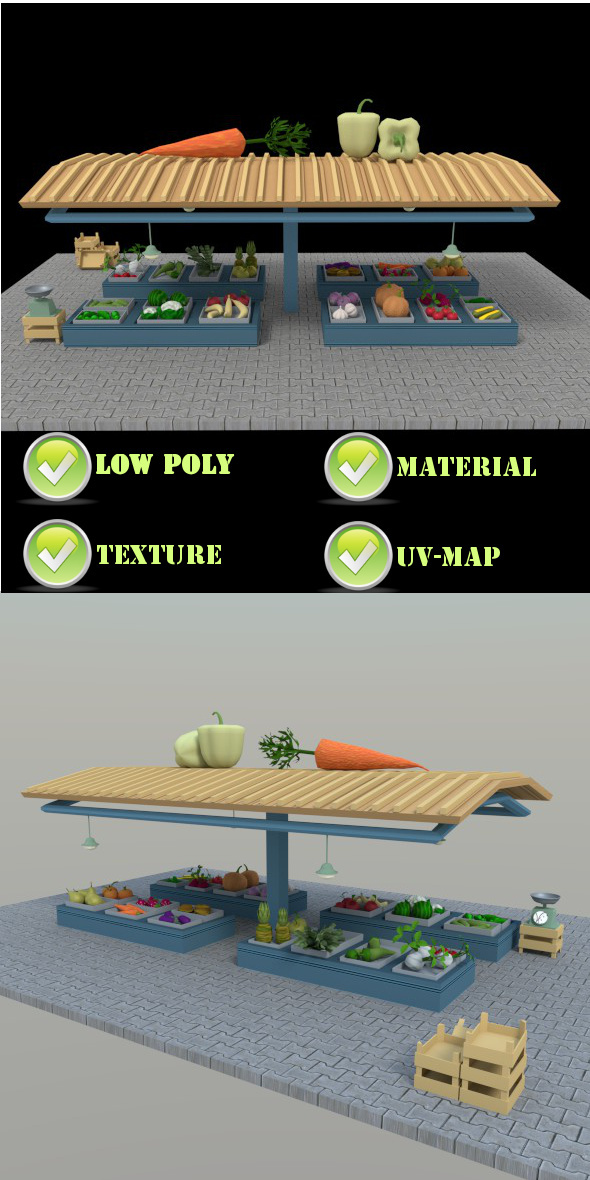 Greengrocer V1 - 3DOcean Item for Sale
