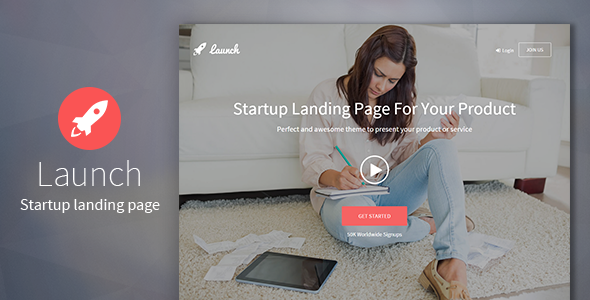 Download Launch - Startup Landing Page nulled download