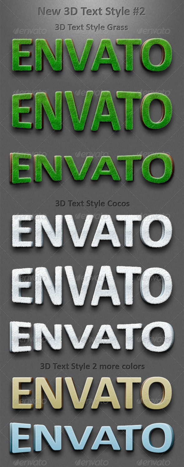 GraphicRiver New 3D Text Styles #2 151472