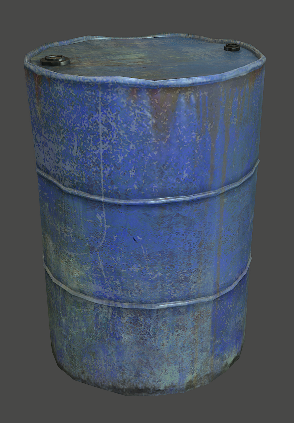 Metal Barrel - 3DOcean Item for Sale