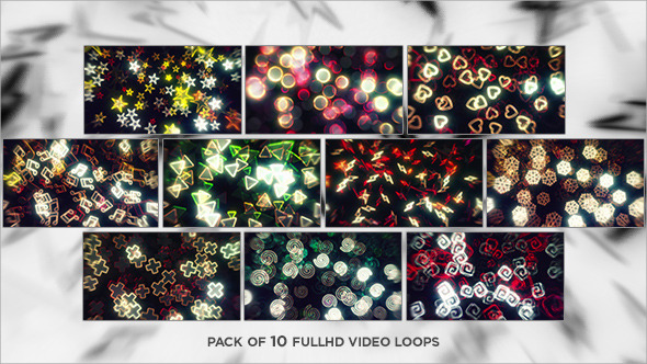 Floating Neon Shapes Loops 10-Pack
