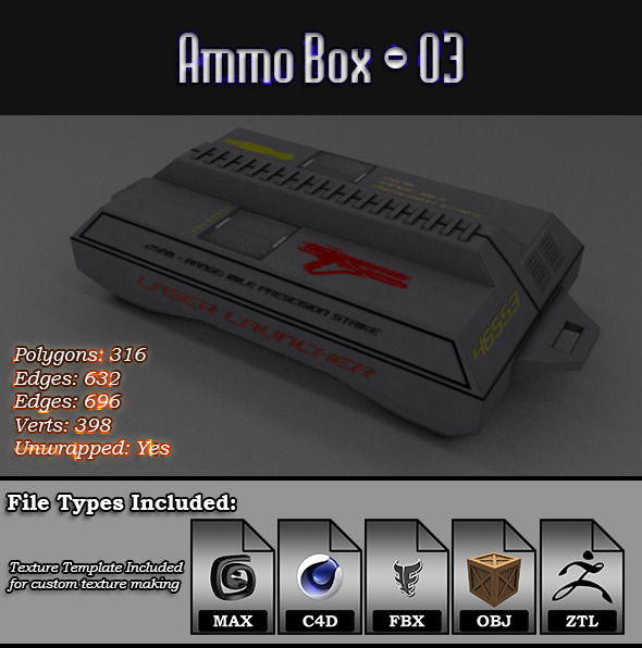 3DOcean Low Poly AmmoBox 03 12499813