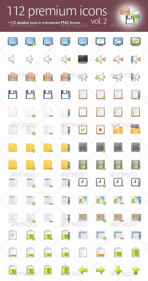 112 Premium Icons #2 - Web Icons