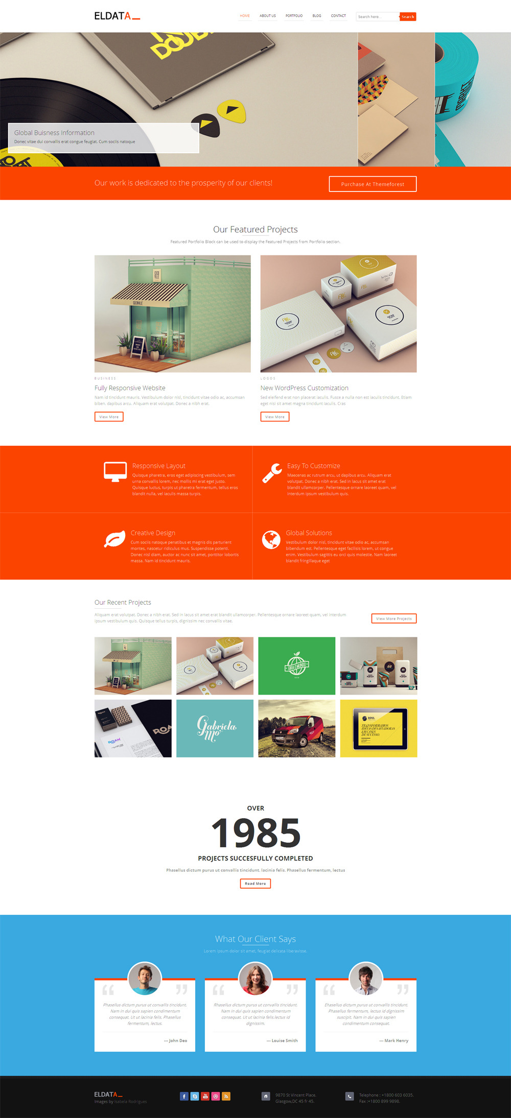 Excellent 1 Page Website Template Tiny 1 Year Experience Resume Format Free Download Clean 10 Best Resume Samples 100 Dollar Bill Template Youthful 100 Template Blue1099 Template Excel Eldata   Responsive HTML Website Template By VenishaIT   ThemeForest