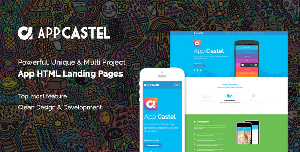 Image of AppCastle - Bootstrap 3 App Landing HTML Template