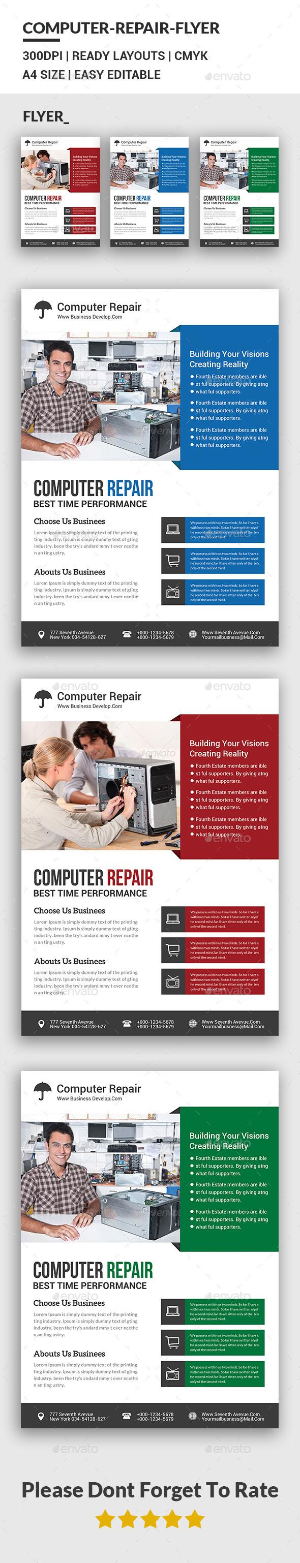 computer repair flier