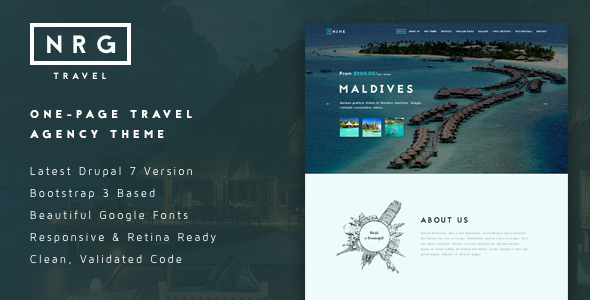 NRGtravel - One-Page Travel & Tour Agency Theme