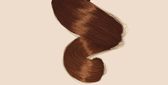 Spiral Hair Clump - 3DOcean Item for Sale