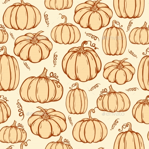 Pattern Of Pumpkins
