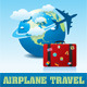 free logo template Airplane Travel on Globe